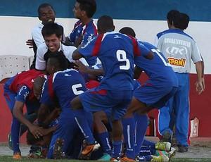 Jogadores do Guará comemoram gol no Dario (Foto: Divulgação/ AGF)