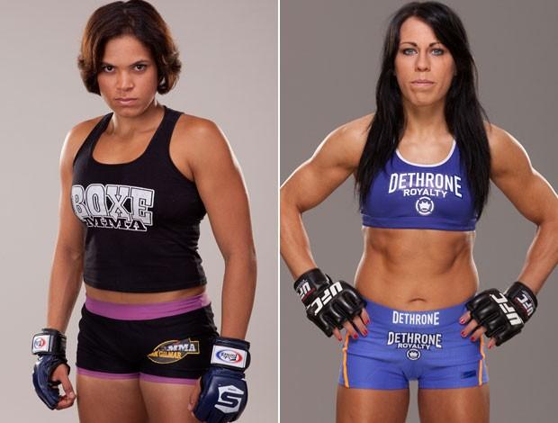 MMA Montagem Amanda Nunes X Sheila Gaff (Foto: Getty Images)