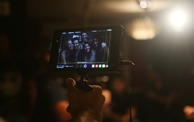 Bastidores da gravação com Luan Santana (Foto: Iwi Onodera/EGO)