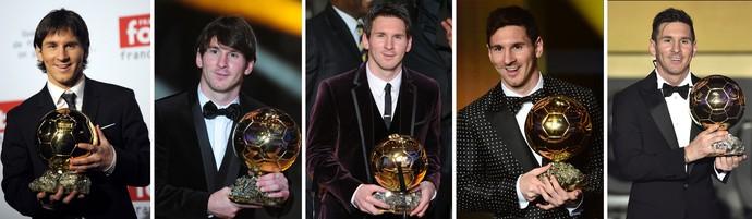 Messi Bola de Ouro (Foto: AFP)
