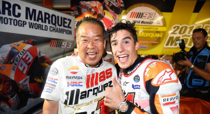Shuhei Nakamoto celebra bicampeonato de Marc Márquez na MotoGP (Foto: Divulgação)