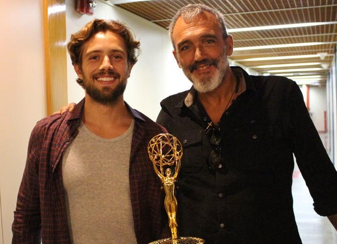 Rafael Cardoso e Rogério Gomes trabalharam juntos em Império (Foto: Carolina Rios/Gshow)