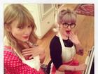 Taylor Swift e Kelly Osbourne mostram seus dotes na cozinha