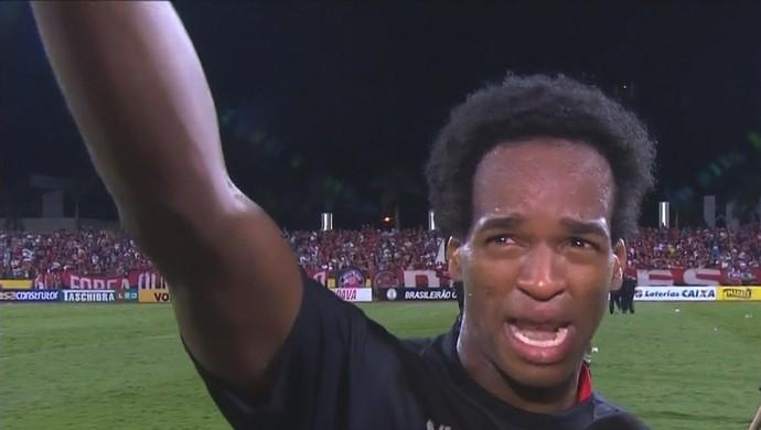 Magno Cruz - meia do Atlético-GO (Foto: Reprodução / SporTV)