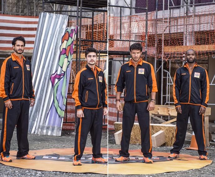 Raphael Viana, Guilherme Leicam, Nando Rodrigues e Rafael Zulu estão no elenco do Desafiados do Caldeirão do Huck (Foto: João Cotta/TV Globo)