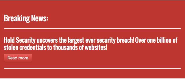 Hold Security alerta 'você pode ter sido hackeado'  (Foto: Reprodução/Hold Security)