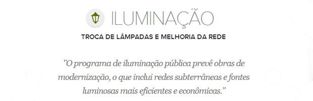Meta de iluminação do prefeito de Belo Horizonte, Marcio Lacerda (Foto: Arte/G1)