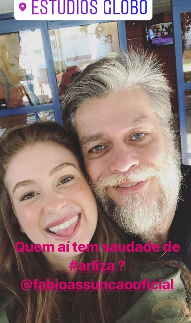 Marina Ruy Barbosa e Fábio Assunção  (Foto: Reprodução/Instagram)