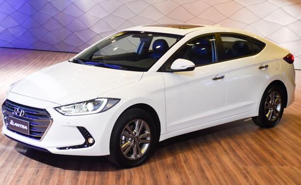 Hyundai Elantra no Salão de SP 2016 (Foto: Flavio Moraes/G1)