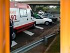 Engavetamento envolve 5 carros na Rodovia Marechal Rondon em Bauru