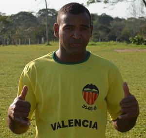 Willian, atacante Valência Porto Acre, artilheiro (Foto: Duaine Rodrigues)