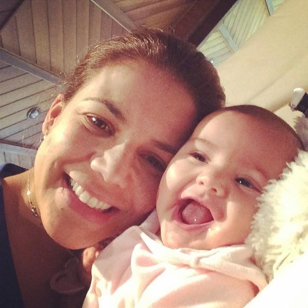 Nivea Stelmann e filha, Bruna (Foto: Instagram / Reprodução)