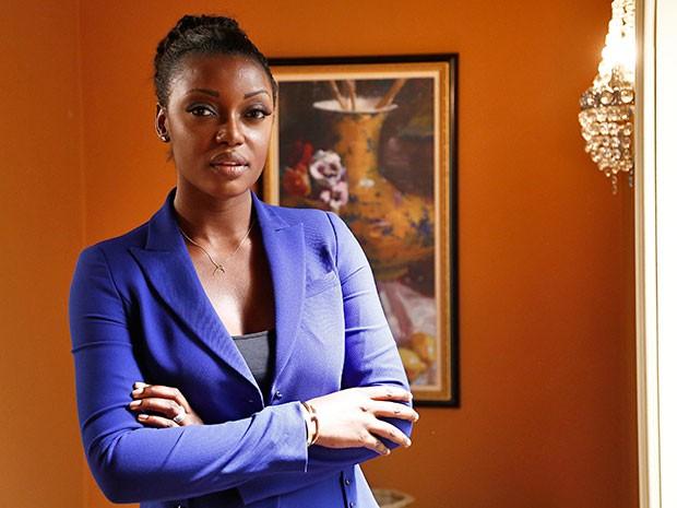 Lesliana Pereira foi miss Angola em 2008 e agora faz sua estreia em novelas  (Foto: Raphael Dias/Gshow)