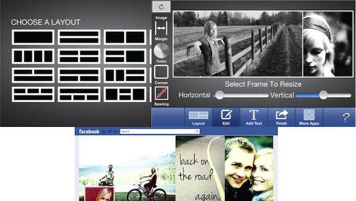 Crie capas fazendo montagens com o Cover Photo Maker for Facebook (Foto: Divulgação/AppStore)