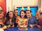 Scheila Carvalho festeja aniversário: 'Comemorando a chegada do enta'
