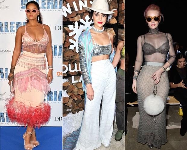 Rihanna, Kendall Jenner e Iggy Azalea (Foto: Reprodução )