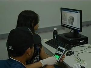 Recadastramento biométrico está sendo feito nos fins de semana e feriados, em Palmas (Foto: Reprodução/TV Anhanguera)