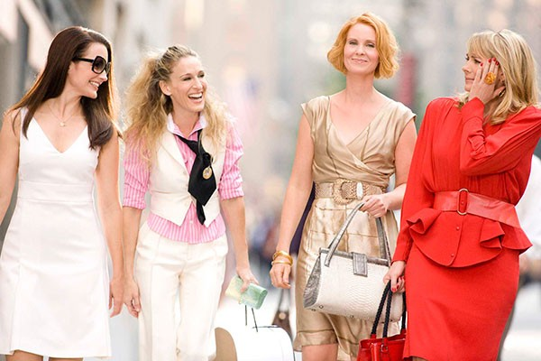 "Sarah Jessica Parker, Kim Cattrall, Cynthia Nixon and Kristin Davis assinaram o contrato para ""Sex And The City - 3"" (Foto: Divulgação)"