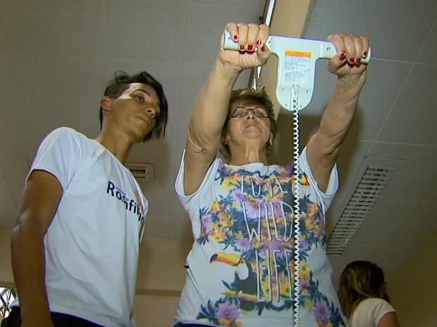 Idosos são acompanhados no Hospital das Clínicas da USP em Ribeirão Preto (Foto: Reprodução/EPTV)