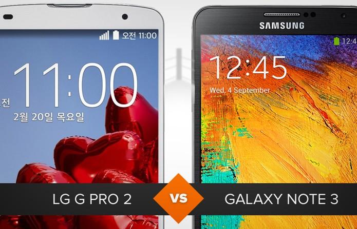 Comparativo entre o LG G Pro 2 e o Samsung Galaxy Note 3 (Foto: Arte/TechTudo)