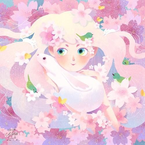 Cherry blossoms fairy in Spring (Foto: Reprodução http://littleoil.tumblr.com )