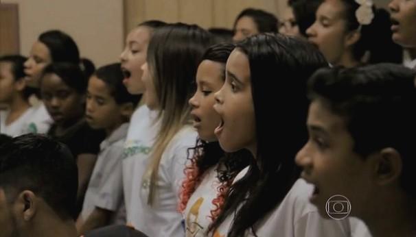 Projeto Flauta Mágica já atendeu mais de 3 mil crianças em Mato Grosso (Foto: Reprodução/Jornal Hoje)