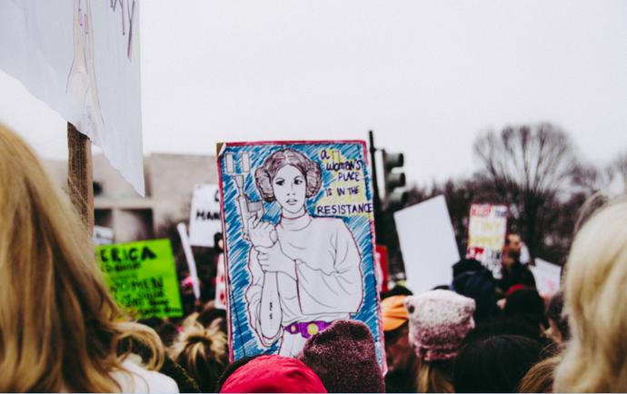 Mulheres na luta por seus direitos (Foto: Jerry Kiesewetter)