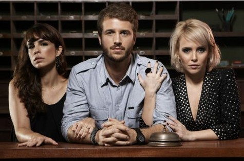 O trio de protagonistas de 'Copa Hotel' (Foto: Reprodução)
