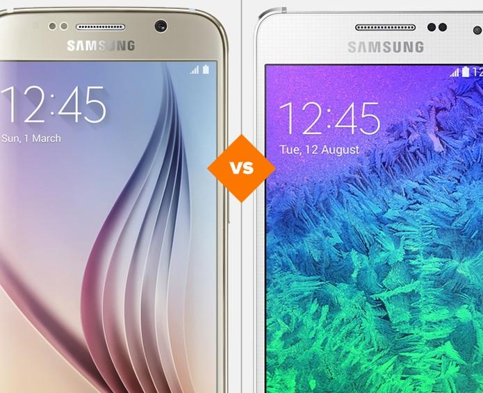 Galaxy S6 ou Galaxy Alpha? Qual é o melhor smartphone da Samsung? (Foto: Arte/TechTudo)