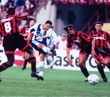 Artur Oliveira durante jogo contra o Milan (Foto: Arquivo Pessoal)