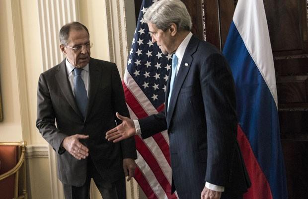 Resultado de imagem para John Kerry e o chanceler russo, Sergey Lavrov