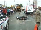Motociclista morre atropelado por caminhão em São Luís
