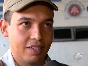 Policial (Foto: Reprodução/TV Bahia)