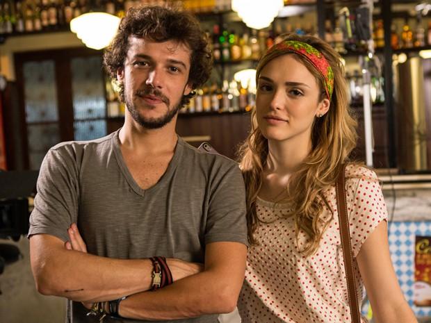 Jayme e Matarazzo e Isabelle Drummond repetem parceria de sucesso em Sete Vidas (Foto: Fábio Rocha/Gshow)
