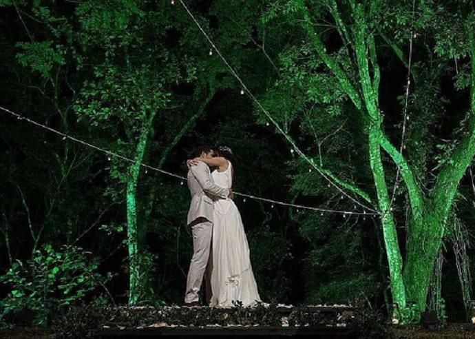 José Loreto e Débora Nascimento se casaram no Rio  (Foto: Arquivo Pessoal)