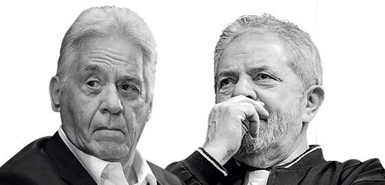 Os ex-presidentes Fernando Henrique Cardoso e Luiz Inácio Lula da Silva (Foto: Fábio Motta/Estadão Conteúdo e Peter Leone/Futura Press/Estadão Conteúdo)