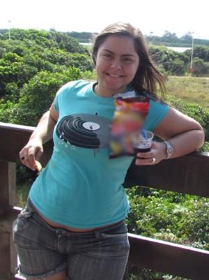 Foto da viagem de férias fez Fernanda mudar os hábitos (Foto: Arquivo pessoal)