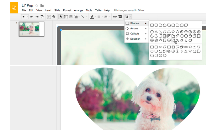 how to do slideshow on google drive with slides
