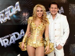 Joelma e Chimbinha, da banda Calypso, no 'Show da Virada' em São Paulo (Foto: Alessandra Gerzoschkowitz/ EGO)