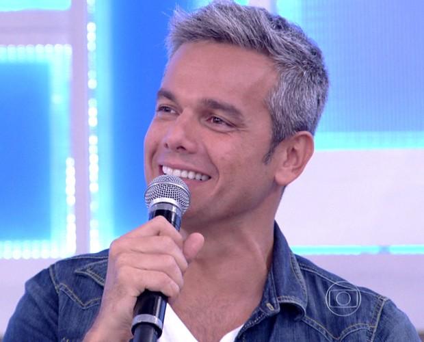 Otaviano Costa fala sobre romance com Flávia Alessandra (Foto: TV Globo)