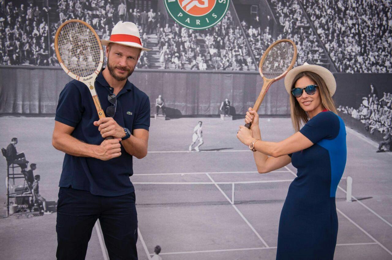 Fernanda Lima e Rodrigo Hilbert assistem à final de Roland Garros 2017 (Foto: Divulgação)
