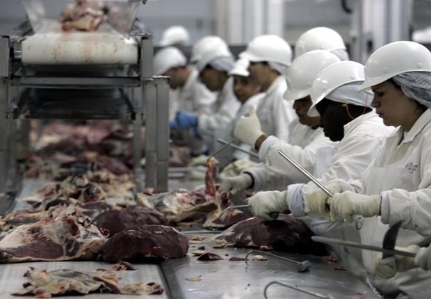 Frigorífico Economia do Brasil Indústria Produção industrial (Foto: Divulgação)