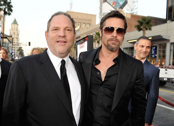 O produtor Harvey Weinstein e o ator Brad Pitt (Foto: Getty Images)