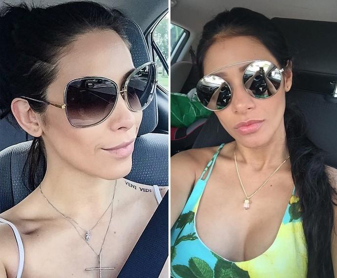 Parecidas? Bella Falconi e Simaria fazem selfie no carro (Foto: Arquivo Pessoal)