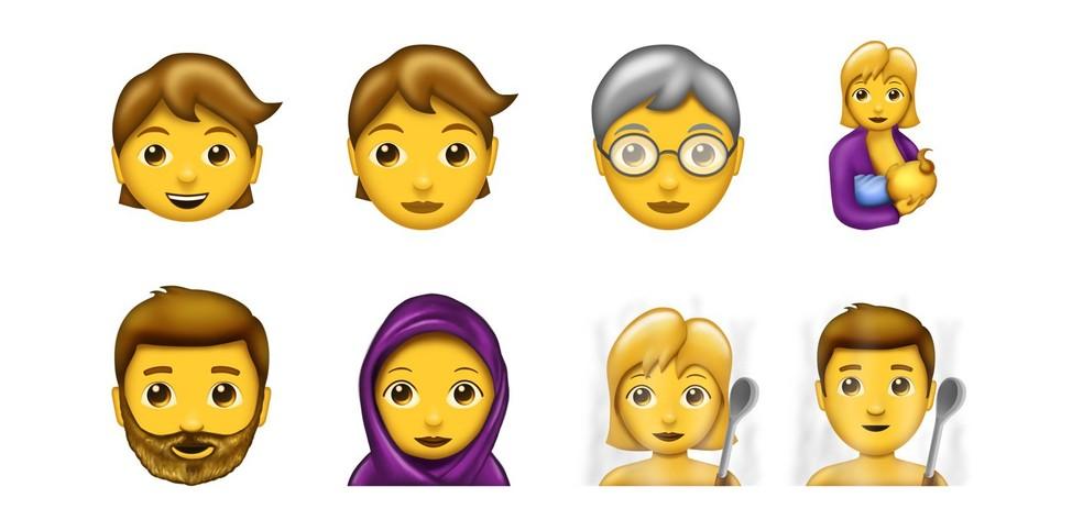 No grupo de pessoas, emojis também ganham diferenças por idades (Foto: Reprodução/Emojipedia)