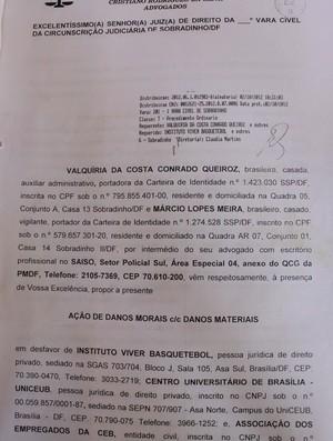 basquete processo família de david meira contra Brasília (Foto: Fabrício Marques)
