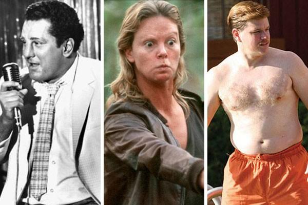 Robert De Niro, Charlize Theron e Matt Damon já passaram por drásticas transformações com o objetivo de fazer grandes trabalhos em Hollywood (Foto: Reprodução)