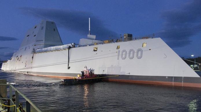 USS Zumwalt é o primeiro navio de guerra drone já construído