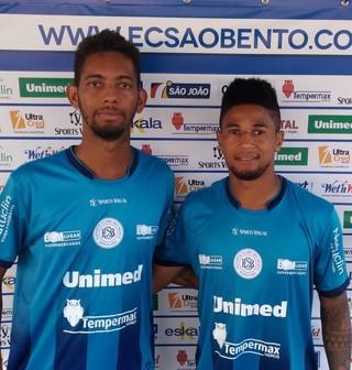 Atacantes Erik Mamadeira e Diego Carlos, reforços do São Bento (Foto: Assessoria de Imprensa/ São Bento)
