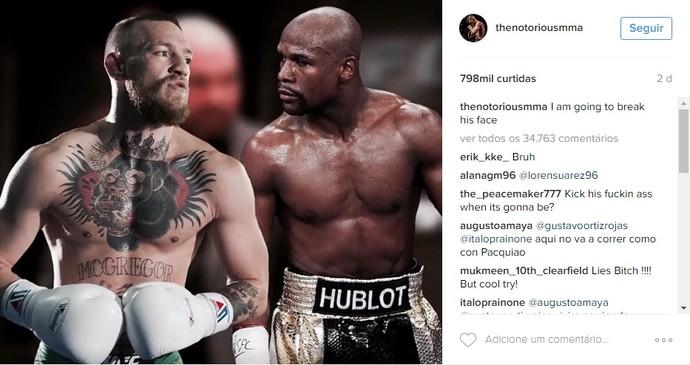 Conor McGregor, Floyd Mayweather, instagram (Foto: Reprodução/Instagram)